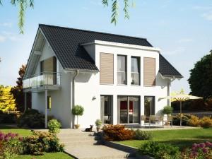 Bild: EVOLUTION 124 V2 Bauweise: Fertighaus, industrielle Vorfertigung Bauart: Holzhaus, Holztafelbau