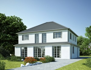Bild: Villa S0 Bauweise: Bau vor Ort, traditioneller Hausbau Bauart: Massivhaus, Porenbetonsteine