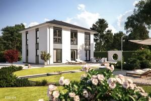 Bild: EOS 154 Bauweise: Fertighaus, industrielle Vorfertigung Bauart: Holzhaus, Fachwerk