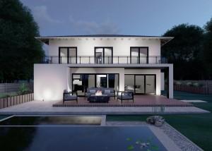 Bild: Stadtvilla Lautzert 40-031 Bauweise: Bau vor Ort, traditioneller Hausbau Bauart: Massivhaus, Porenbetonsteine