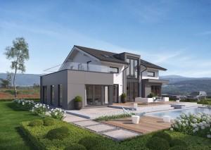 Bild: Selection-E-160 E1 Bauweise: Fertighaus, industrielle Vorfertigung Bauart: Holzhaus, Holztafelbau