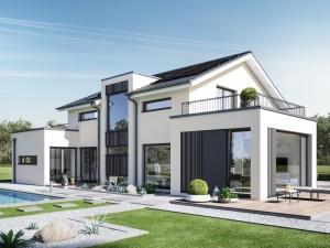 Bild: CONCEPT-M 154 Hannover Bauweise: Fertighaus, industrielle Vorfertigung Bauart: Holzhaus, Holztafelbau