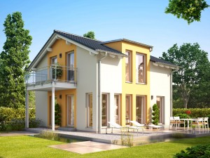 Bild: SUNSHINE 113 V4 Bauweise: Fertighaus, industrielle Vorfertigung Bauart: Holzhaus, Holztafelbau
