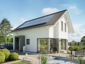 Bild: EDITION 123 V2 Bauweise: Fertighaus, industrielle Vorfertigung Bauart: Holzhaus, Holztafelbau