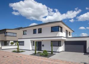 Bild:  Haus Pfeilschmidt Bauweise: Fertighaus, industrielle Vorfertigung Bauart: Massivhaus, Ziegelsteine