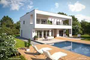 Bild: FA 260 Bauweise: Fertighaus, industrielle Vorfertigung Bauart: Holzhaus, Fachwerk