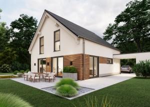 Bild: Satteldach Haus Merkelbach 70-011 Bauweise: Bau vor Ort, traditioneller Hausbau Bauart: Massivhaus, Porenbetonsteine