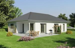 Bild: Bungalow MV-118 Bauweise: Bau vor Ort, traditioneller Hausbau Bauart: Massivhaus, Porenbetonsteine