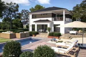 Bild: EOS 169 Bauweise: Fertighaus, industrielle Vorfertigung Bauart: Holzhaus, Fachwerk
