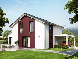 Bild: SUNSHINE 126 V4 Bauweise: Fertighaus, industrielle Vorfertigung Bauart: Holzhaus, Holztafelbau