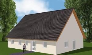 Bild: Großes Familienhaus Bauweise: Bau vor Ort, traditioneller Hausbau Bauart: Massivhaus, Porenbetonsteine