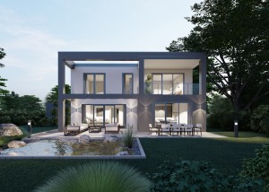 Bild: Bauhaus Holler 10-029 Bauweise: Bau vor Ort, traditioneller Hausbau Bauart: Holzhaus, Fachwerk