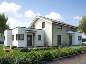 Bild: SOLUTION 183 V5 Bauweise: Fertighaus, industrielle Vorfertigung Bauart: Holzhaus, Holztafelbau