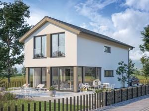 Bild: BALANCE 146 V2 Bauweise: Fertighaus, industrielle Vorfertigung Bauart: Holzhaus, Holztafelbau