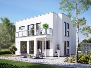 Bild: SUNSHINE 126 V8 Bauweise: Fertighaus, industrielle Vorfertigung Bauart: Holzhaus, Holztafelbau