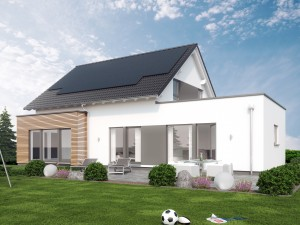 Bild: SOLUTION 183 V3 Bauweise: Fertighaus, industrielle Vorfertigung Bauart: Holzhaus, Holztafelbau