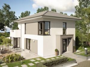 Bild: EVOLUTION 122 V8 Bauweise: Fertighaus, industrielle Vorfertigung Bauart: Holzhaus, Holztafelbau
