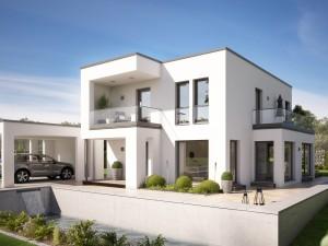 Bild: EVOLUTION 134 V5 Bauweise: Fertighaus, industrielle Vorfertigung Bauart: Holzhaus, Holztafelbau