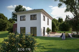 Bild: EOS 176 mit Garage im Haus Bauweise: Fertighaus, industrielle Vorfertigung Bauart: Holzhaus, Fachwerk