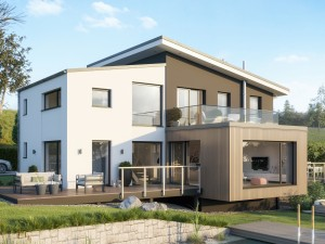 Bild: CONCEPT-M 170 Villingen-Schwenningen Bauweise: Fertighaus, industrielle Vorfertigung Bauart: Holzhaus, Holztafelbau