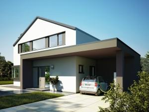 Bild: CONCEPT-M 172 Köln Bauweise: Fertighaus, industrielle Vorfertigung Bauart: Holzhaus, Holztafelbau