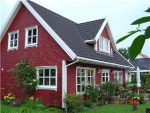 Bild: Axel Bauweise: Fertighaus, industrielle Vorfertigung Bauart: Holzhaus, Fachwerk