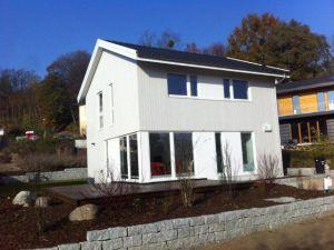 Bild: Reckefjord Bauweise: Bau vor Ort, traditioneller Hausbau Bauart: Holzhaus, Holzständerwerk