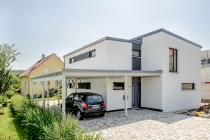 Bild: Familienhaus in Bauhausstil  Bauart: Holzhaus, Holztafelbau