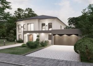 Bild: Stadtvilla Sessenhausen 40-030 Bauweise: Bau vor Ort, traditioneller Hausbau Bauart: Massivhaus, Porenbetonsteine