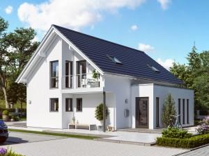 Bild: SUNSHINE 143 V2 Bauweise: Fertighaus, industrielle Vorfertigung Bauart: Holzhaus, Holztafelbau
