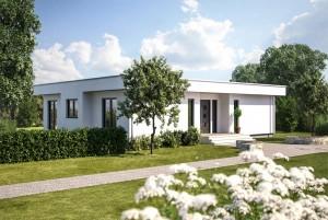 Bild: ONE 173 Bauweise: Fertighaus, industrielle Vorfertigung Bauart: Holzhaus, Fachwerk