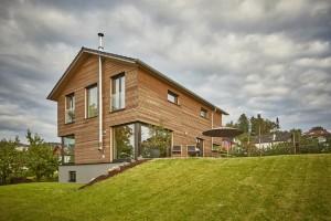 Bild: Design D 159 Bauweise: Fertighaus, industrielle Vorfertigung Bauart: Holzhaus, Fachwerk