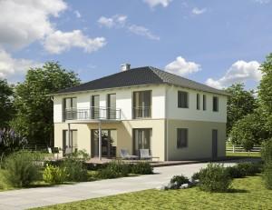 Bild: Villa V 1 Bauweise: Bau vor Ort, traditioneller Hausbau Bauart: Holzhaus, Fachwerk
