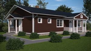 Bild:  Bauweise: Fertighaus, industrielle Vorfertigung Bauart: Holzhaus, Holzständerwerk