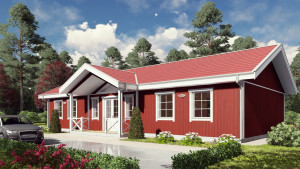 Bild: NORGES HUS 137 - Bausatz ab 68.650.-- € ... Bauweise: Fertighaus, industrielle Vorfertigung Bauart: Holzhaus, Holzständerwerk