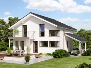 Bild: EVOLUTION 136 V3 Bauweise: Fertighaus, industrielle Vorfertigung Bauart: Holzhaus, Holztafelbau