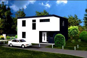 Bild: Bauhaus 154 Bauweise: Fertighaus, industrielle Vorfertigung Bauart: Massivhaus, Porenbetonsteine