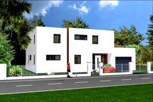 Bild: Bauhaus 274 Bauweise: Fertighaus, industrielle Vorfertigung Bauart: Massivhaus, Porenbetonsteine