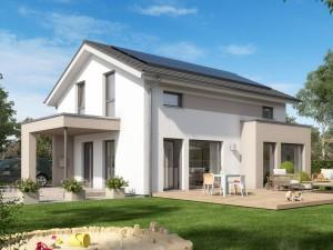 Bild: SUNSHINE 125 V5 Bauweise: Fertighaus, industrielle Vorfertigung Bauart: Holzhaus, Holztafelbau