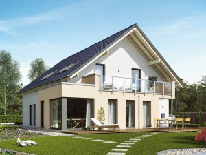 Bild: SOLUTION 230 V2 Bauweise: Fertighaus, industrielle Vorfertigung Bauart: Holzhaus, Holztafelbau
