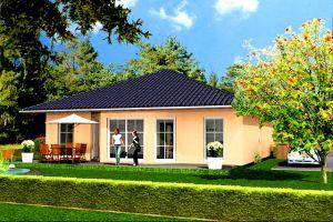 Bild: Bungalow 112 Bauweise: Fertighaus, industrielle Vorfertigung Bauart: Massivhaus, Porenbetonsteine