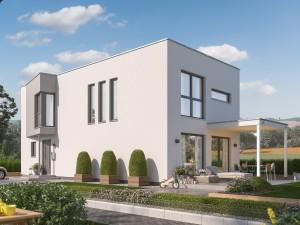Bild: SUNSHINE 156 FD Bauweise: Fertighaus, industrielle Vorfertigung Bauart: Holzhaus, Holztafelbau