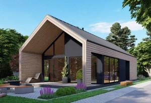 Bild: NORGES HUS 175 - Bausatz ab 98.900.-- € ... Bauweise: Fertighaus, industrielle Vorfertigung Bauart: Holzhaus, Holzständerwerk