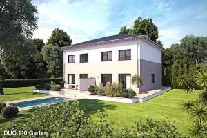 Bild: DUO 110 Bauweise: Fertighaus, industrielle Vorfertigung Bauart: Holzhaus, Fachwerk