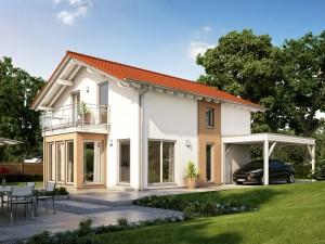 Bild: SUNSHINE 136 V5 Bauweise: Fertighaus, industrielle Vorfertigung Bauart: Holzhaus, Holztafelbau