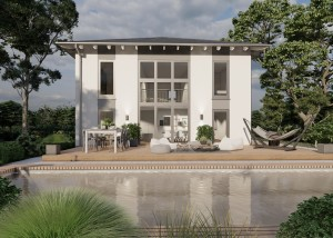 Bild: Stadtvilla Wassenach 40-020 Bauweise: Bau vor Ort, traditioneller Hausbau Bauart: Massivhaus, Porenbetonsteine