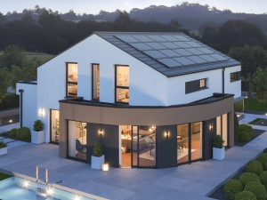 Bild: EVOLUTION 163 V3 Bauweise: Fertighaus, industrielle Vorfertigung Bauart: Holzhaus, Holztafelbau