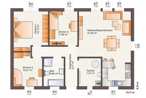 Bild: ONE 97 Bauweise: Fertighaus, industrielle Vorfertigung Bauart: Holzhaus, Fachwerk