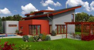 Bild: CEF MODERN 249 Bauweise: Fertighaus, industrielle Vorfertigung Bauart: Massivhaus, Porenbetonsteine