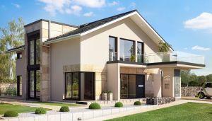 Bild: CONCEPT-M 163 Bauweise: Fertighaus, industrielle Vorfertigung Bauart: Holzhaus, Holztafelbau